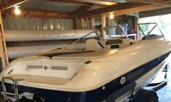 1998 Rinker 182 Open Bow Captiva Boat. It is powered by the Bulletproof Alpha One Drive 4.3 V6 Mercruiser Engine. Doesn't use near as much gas as a V8 but still has plenty of get up and go. Fires right up, idles smooth, planes out good, no issues. Ready