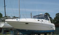 Accommodations:Sleep 6: Forward Master berth, Salon and Aft stateroom each have convertible settees. Full head with vanity & stand-up shower. Air conditioning.Galley & SalonPort galley: Including 2-burner electric stove, microwave, AC/DC refrigerator,