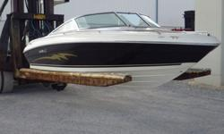 1998 Sea Ray Signature Bowrider powered by a Vortec V6 4.3 Mercruiser engine with 190 hp and 280 hrs. A Sea Ray Signature Bowrider in nice original condition that has been fresh water run and stored indoors. Comes with a Sea Ray bimini top, stereo with