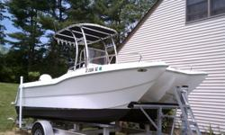 1998 Seagull Catamaran center console with a 1999 Johnson 150HP Ficht. roughly 350hrs. Recently inspected and all cylinders tested great. 4 Blade stainless prop.This is the original Seagull design. Seagull was a catamaran designer/boat racer and this hull