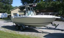 1998 Seaswirl 21 Striper.150 Johnson OceanRunner.New Custom T-top installed in 2009 with electronics box.Fishfinder.gps.vhf radio,stereo.Live baitwell.New helm chairs.Nice boat for fishing.Tandom axle trailer.Could use new fenders.Type: Center console