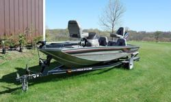 I am the original owner. This boat is in very good condition and the engine has started up as soon as the key was turned each spring every year since it was new. It has a 40 HP Mercury 2-stroke outboard motor and runs wide open at 25 mph. It has a 43 lb