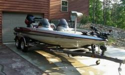 You are viewing a 1998 Triton TR-19 Dual Console Bass Boat. The boat and trailer was custom ordered by my Father In-Law in late 1998 and is titled a 1998 but the interior was upgraded to a 1999 model at the factory due to the buyers request. This boat is
