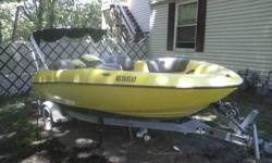 1998 17 ft Yamaha 270 Exciter Jet Boat. 2 Yamaha 130 Hp Jet Engines, Under 150 running hours, 2 side mirrors on the helm for great driver visibility. Built in Hull Ski Locker, Plenty of Storage, Sun Shade Awning. Marine Easy Load Boat Trailer. AM/FM