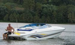 Type: Cuddy cabin Engine type: Single inboard/outboard Use: Fresh waterLength (feet): 27.0 Engine make: GM 8.1 Primary fuel type: GasBeam (feet): 8.5 Engine model: Tyler Crockett 496 Fuel capacity (gallons): 76-100Hull material: Fiberglass Trailer: