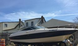 1999 Bayliner Capri 24? cuddy cabin with a Mercruiser 5.0 liter 8 cylinder with alpha/ generation II outdrive. Boat has been trailered for the past 3 years and stored on land. Very clean boat. Clean cabin with porta-potty, fresh water sink and transom