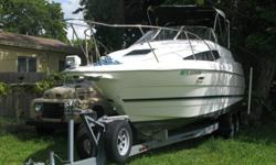 ,..,,BAYLINER 29.7 FEET BOAT SECOND OWNER MECHANICLY SOUNDED REBUILT ENGINE AND GIMBALL BOAT COMES WITH A DOUBLE AXLE TRAILER WITH TWO BRAND NEW SPARE TIRES GREAT BOAT FOR THE MONEY CAN BE INSPECTED WITH A VIEWING APPOINTMENT,TWO OWNERS ONLY, GOOD