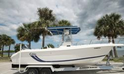 YOU ARE LOOKING AT A COBIA 244 CENTER CONSOLE. THE BOAT IS CLEAN AND LOADED WITH EQUIPTMENT. THE BOAT HAS 421 ORIGINAL HOURS. THE POWERHEAD WAS REPLACED IN APRIL 2015 AND HAS 12 MONTHS OF WARRANTY REMAINING.YAMAHA 225 HP EFI WITH ONLY TWO HOURS ON NEW