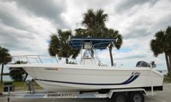 ,,,,,,YAMAHA 225 HP EFI WITH ONLY 10 HOURS ON NEW POWERHEADSTAINLESS PROPHYDRAULIC STEERINGDUAL BATTERIES WITH SWITCHNEW RAW WATER WASHDOWN PUMPNEW LIVEWELL PUMPEXTRA LARGE T-TOPSPREADER LIGHTSLOWRANCE COLOR FISHFINDER / CHART PLOTTERVHF RADIOSTEREOYAMAHA