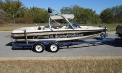 D-drive with Upgraded PCM Pro Boss GT 40 5.8 liter V8!! This Boat is super nice with 434 Hours of fresh water!!!! It comes with matching dual axle trailer. Depth finder, ballast system, walk thru transom, docking lights, Cd player, Wakeboard tower with