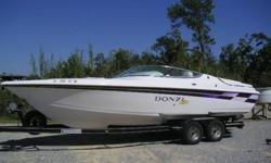 26' DONZI 26 ZXTHIS A CLEAN GOOD LOOKING AND GOOD RUNNING BOATTHIS IS THE ORIGINAL MERCRUISER 502 MAG MPI ENGINEWITH ABOUT 350 HOURS ENGINE HAS NO MODIFICATIONS ALL ON BRAVO 1 STERN DRIVE WITH 4 BLADE S/S PROPGOOD FIBERGLAS WITH ONLY MINOR BLEMISHES