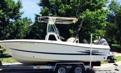 """Up for a NO RESERVE auction is a VERY GOOD condition, LOW HOURS ( 300 HOURS ON BOAT AND MOTOR best guess) MODEL YEAR 1999 AWESOME HYDRA-SPORT MODEL 2250 22 FT boat,Won't find one nicer,Big and rugged, DEEP V-HULL, """",RAW WATER WASHDOWN,,TRIM TABS,self"""