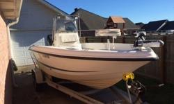 .,;'.;Great boat! Sits high in the water, and cuts thru waves well!Normal wear and tear for it's age, upholstery needs a little attention.Brand New Humminbird GPS, new starter battery, has VHF Radio, and AM/FM Stereo. Power trim, hydraulic steering,