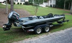 1999 Javelin Renegade 20ft Bass Boat with 225 HP Johnson H/O. Runs Great! Good Condition, In some areas the gel-coat could use a little cleaning, but over all it is in good condition. Hot Foot with Steering Wheel Mounted Trim Controls, ProAir Livewells,