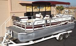 http://www.gotwatermarine.com/Consignment_1999_JC_Tritoon_207_Neptoon_20.htmlClimb aboard the BEST value around! This a a very clean and well maintained Tritoon with spacious seating and plenty of storage. Whether you're cruising, fishing, or just looking