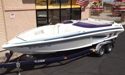 http://www.gotwaterrentals.com/Consignment_1999_Lavey_Craft_NuEra_Open_Bow_Runabout_24%27.html Extremely nice '99 LaveyCraft Nu Era 24' Open Bow - Very well kept open bow with MerCruiser 502 blue engine....LOTS of power! Includes 2 SST props, outdrive