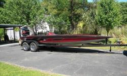 Vrey nice 1999 Legends 23' Bass boat that has new carpet, new upolstery on console seats ( I did not re-upolster the swivel and pedistal seat but do have them and they are useable) I rebuilt a new battery rack for three batteries and oil tank and