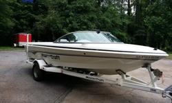 Very Nice second owner boat. Strong running, absolutely no problems. Boat has very minor scratches and scuffs. One small tear in the rear seat. Adult driven and ready for the lake!! Comes with training boom, factory Mastercraft cover and trailer with disc