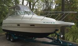 1999 Maxum 2400 SCR with a 1999 Eagle Tandem Axle trailer both in great condition!! This boat is turn key needs absolutely nothing bottom paint is brand new,Camper Canvas with isinglass is new, all maintenance on motor and drive has been performed,