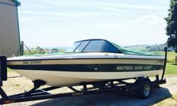 ,,,,,,We are the second owner of this boat and it was used by us for various watersports including tubing, waterskiing and Wakeboarding. The boat is basically the same as is featured in this video link below. Instead of black the trim is dark green. 5.8L