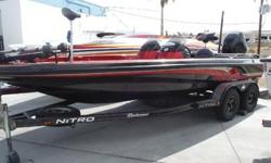 The Nitro 911 CDC revolutionized bass fishing with an easier way to move around the boat, and a better way to maximize performance and safety. The all-composite PerforMAX hull; left side driver's position; four-across seating; automotive style dash; and