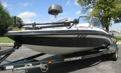 1999 PROCRAFT 17 COMBO FISH & SKI WITH MATCHING TRAILER.THIS BOAT COMES EQUIPPED WITH A 120 HP FORCE BY MERCURY OUTBOARD MOTOR. IT HAS PLENTY OF POWER TO GET A SKIER OR WAKEBOARDER UP ON PLANE OR TO PULL THE KIDS AROUND IN A TUBE. THE GLASS WINDSHIELD