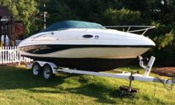 ,,,....1999 21' Rinker Festiva CuddyPurchased a new boat over the winter so I need to let this one go.Clean boat that has been well taken care of and updated as needed. 4.3 V-6 Mercruiser w/Alpha 1 drive.2014 additions-new bimini top, new prop, new