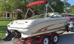 Item specificsCondition: Used Year: 1999Trailer: Included Make: Sea RayEngine Type: Single Inboard/Outboard Model: 190Engine Make: Mercruiser Type: BowriderThe 190 Signature is perfect for anyone looking to have a good time out on the water without having
