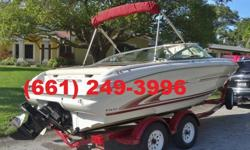 for anyone looking to have a good time out on the water without having the hassle of a Big boat- She?s easy to handle and delivers a smooth ride and Features seating for Eight. Bowriders always make for a fun day on the water whether it?s skiing,