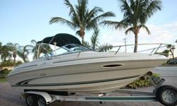 THIS VESSEL HAS ONLY HAD ONE OWNER AND IS IN EXCELLENT CONDITION. SHE HAS ONLY BEEN USED A TOTAL OF 224 HOURS.220 HP MERCRUISER 5.0 LITER (224 ORIGINAL HOURS)ALPHA ONE OUTDRIVE3 SIDED CLEAR ISENGLAS COCKPIT ENCLOSUREFACTORY COCKPIT COVERBIMINI TOPSHORE