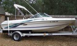 1999 SeaRay 180 BR 3.0 Mercruiser Engine - 135hp All items listed are included with the sale Three (3) props 2008 aluminium trailer - 3500 lb axle Three (3) pairs of skis - (2) Cypress Gardens (His and Hers) and (1) O'Neil Knee Board Two (2) Tubes Various