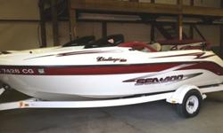 1999 SeaDoo Challenger Jet boat twin engine 701cc each rotary valve. Excellent condition Very well maintained, boat is always stored in doors and has never been out outside overnight. One engine has been replaced by a short block Tech engine. there is