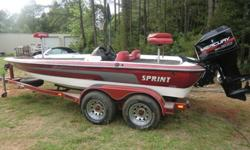 This is a 1999 sprint 296 pro bass boat with a 1999 mercury 200 efi engine and trailer.i am selling it as is,i have owned this boat for about 10 years and used it very little.the bad first, it has been sitting in my garage for the last 4 years and not
