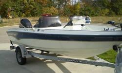 1999 Starcraft Citori 180- 18.5 ft Fiberglass-150 HP Optimax.-Original Owner.-Dual Console.-18.5 ft Fiberglass Deep V.-8ft Beam.-Inside Depth 23 inches.-Boat Weight 1810 lbs-Capacity 5 people/1380 lbs.-38 gallon fuel tank.-10 gallon auxiliary tank for