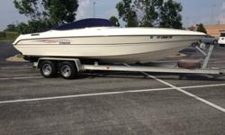 You will not find a another stingray this clean!! . Has a mercruiser 454 Magnum HO engine with Corsa Captains call exhaust (sound awesome , can email video) Boat runs about 70mph and cruises great around 45-50mph and is great on fuel ! Look up this boat