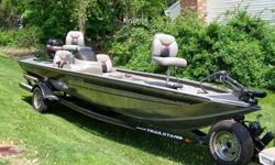 1999 TRACKER PRO TEAM 185 WITH MERCURY 90 PRO SERIES ENGINE, TRAILSTAR TRAILER.NEW WATER PUMP IMPELLER, SPARK PLUGS, FUEL FILTER, NEW RADIAL TIRES FOR TRAILER , NEW WINCH STRAP , NEW LIGHTS FOR TRAILER, NEW TRANSOM TIE DOWNS (ALL INSTALLED LAST MONTH).,