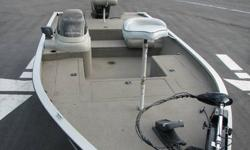 1999 tracker 18' tournament v hull aluminum bass boat in very good condition, this boat is extreamly wide and stable on the water. This boat has more than enough storage for all your fishing gear and two large rod lockers, it has a motorguide foot control