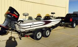 Jack PlateNew Water Pump last yearFour Blade High Performance Stainless Performance PropDual Console with glove boxDual live well with aeratorsSeats and carpet in good conditionBrand new boat coverBrand new Lowrance Fish Finders; HDI5 & HDI7-Driver with