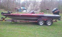 1999 Triton TR21. Boat runs great; Motor Guide digital 82lb thrust trolling motor; 3 bank charger, 15 amp per bank; Hydrowave; Hummin Bird 958DI fish finder on front, Hummin Bird 1198C fish finder on rear with side imaging and down imaging. Minor wear and