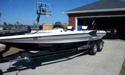 "This is a 1999 Triton TR21 that has been garage kept most all its life. The boat has a 1999 Mercury 225 EFI strapped to a 10"" Springfield adjustable jack plate and runs a Trophy 26 pitch 4 blade prop. The cowling and lower unit have just been repainted,"