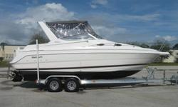 LOOK AT THIS BEAUTIFUL 1999 WELLCRAFT 2600 MARTINIQUE. HERE ARE SOME OF THE FEATURES AND OPTIONS:310 HP 7.4 MERCRUISER MPI (MULTI PORT FUEL INJECTED)230 ORIGINAL HOURS ON BOAT AND MOTORBRAVO III OUTDRIVEFULL CANVASSLEEPS 6AC/ REVERSE CYCLE HEAT W/ DIGITAL