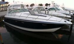 2005 Formula 40 PC SAT TV, RADAR, BRAND NEW BOW THRUSTER, HYDRAULIC SWIM PLATFORM, UPGRADED BOW LOUNGERS, AND MUCH MORE! One owner boat bought new from Formula in 2005. This is one of, if not the most efficient 40 footer on the used market. The twin