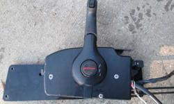 GOOD WORKING SIDE MOUNT CONTROL BOX WITH 15' CONTROL CABLES & IGNITION HARNESS. 8 PRONG PLUG THAT WORKS WITH ALL MERCURY PRODUCT, POWER TRIM/TILT IN HANDLE, CUT OFF SWITCH, NEUTRAL SAFETY. ALL WORKS. 228-342-9337Listing originally posted at http