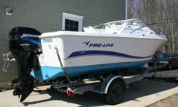 This 20? PROLINE 2004 Walkaround is located in Milford CT. and is in great condition, with low hours, (estimated under 100 hours). The boat has been professionally maintained. Fit with the mercury 150 hp outboard engine the20? 2004 Proline can reach