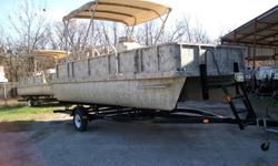 New! Never used 2011 18' Voyager Camoflage pontoon boat with a 50HP Honda 4 stroke motor. 2 left in stock Super quiet! Lots of options and fun color! Was $25,900. NOW $19,500! Easy financing available as low as 3.99% APR W.A.C. Call Tim at 150 Boat Sales