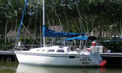 1992 Hunter 28 foot sailboat. 28 model with the swim platform integrated into the transom, makes it easy to dive from. Low hour boat runs perfect and never had any damage. Yanmar 18 hp diesel is original and runs perfect. 3 foot 9 inch draft means it can