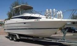 1996 Bayliner 2655 Cabin Cruiser Only $19,500 OBCO! Trades Welcome! * 26'ft Cabin Cruiser with Mid Cabin/Rear Sleeper * Mercruiser 5.7L V8 Alpha One Drive ( Runs & Shifts Great ) * Hydraulic Trim Tabs * Full Galley with Sink, Stove, Fridge & Microwave *