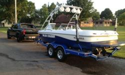 21' Inboard - 2001 Moomba MOBUIS SKI/WAKEBOARD BOAT WITH 2010 Prestige Boat Trailer - LIKE BRAND NEW! EST. 400 hours BRAND NEW PROP, CARPET, & INTERIOR On top of the boats standard equipment also comes with:Custom boat cover - LIKE NEWDual batteries with