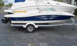 2007 Sea Ray 185 SPORT This 185 Sport is a single owner boat, with only 117 hours. She is powered by a Mercruiser 4.3 Lit engine, with Alpha I outdrive. The boat is loaded with CD, stereo, watersports tower with wakeboard racks, extended swim platform,