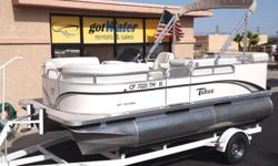 """2012 Tahoe - Sport RE 16' Pontoon$19,500http://www.gotwaterrentals.com/Consignment_2012_Tahoe_Sport_RE_16_Pontoon.html""""Same-as-New"""" describes this beautiful little Tahoe / Avalon Sport, but for thousands less! Just arrived, this pontoon has all the"""